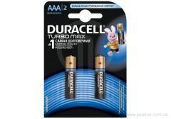 Батарейка Duracell Turbo AAA MN2400 2шт. в упаковке