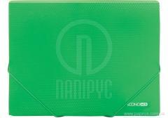 The A4 folder plastic on elastic bands, green