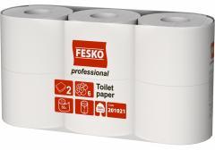 Бумага туалетная 2 слоя белая Fesko...