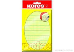Kores stickers, 150х100, light yellow to the line, 100 l.
