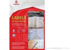 Labels self-adhesive for Disks, white, A4, 100 a leaf/pack, on the sheet 2 of piece.