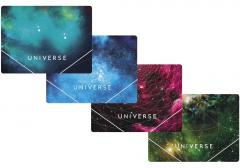 The folder plastic A4 on elastic bands of Optima Universe, allsorts