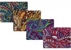 The folder plastic A4 on elastic bands of Optima Ethnics, allsorts, 600 microns