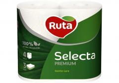 Бумага туалетная 3 слоя Ruta Selecta 4...