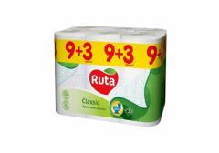 Бумага туалетная 2 слоя Ruta Classiс 9+3...