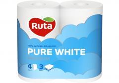 Бумага туалетная 3 слоя Ruta Pure White 4...