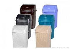 Bucket with a cover plastic color of allsorts of 10 l