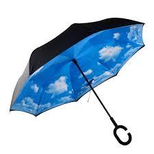 Зонт обратный ветрозащитный