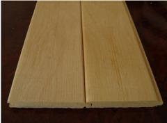 Lining wooden bilateral alder