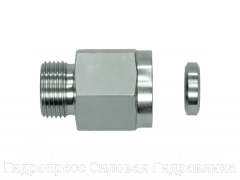 Муфта гидравлическая с металлическим уплотнительным кольцом - OMD, Нержавеющая сталь Rubrik 8.147