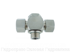Тройник, трубное соединение с кольцом уплотнения - OMD, Нержавеющая сталь Rubrik 8.186