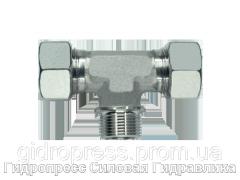Тройник резьба цилиндрическая - стандарт, Нержавеющая сталь Rubrik 8.109