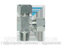 Тройник трубное соединение метрическая резьба - SC, Нержавеющая сталь Rubrik 8.128