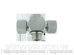 Тройник, трубное соединение с кольцом уплотнения - Standard, Нержавеющая сталь Rubrik 8.178