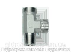 Тройник трубное соединение конусная резьба - OMD, Нержавеющая сталь Rubrik 8.123