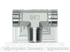 Тройник резьба метрическая - конусная - OMD, Нержавеющая сталь Rubrik 8.114