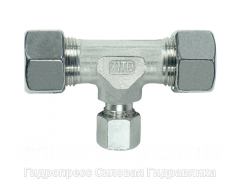 Тройник, Резьбовые соединения TRV - с накидной гайкой типа SC, Нержавеющая сталь Rubrik 8.29