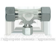 Тройник, Резьбовые соединения TRV - с накидной гайкой типа SC, Нержавеющая сталь Rubrik 8.26