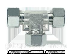 Тройник, Резьбовые соединения TV - с накидной гайкой типа SC, Нержавеющая сталь Rubrik 8.23
