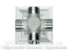 Крестовидные резьбовые патрубки KV - без накидной гайки и врезного кольца, Нержавеющая сталь Rubrik 8.33
