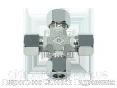Крестовидные резьбовые соединения KV - с накидной гайкой типа SC, Нержавеющая сталь Rubrik 8.32