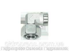 Угловые резьбовые соединения с несъемной гайкой, Нержавеющая сталь Rubrik 8.192