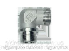Угловое трубное соединение резьба метрическая - цилиндрическая, Нержавеющая сталь Rubrik 8.99