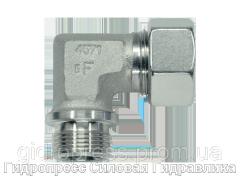 Угловое трубное соединение резьба метрическая - цилиндрическая, Нержавеющая сталь Rubrik 8.97