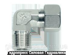 Угловое трубное соединение резьба метрическая - конусная, Нержавеющая сталь Rubrik 8.95