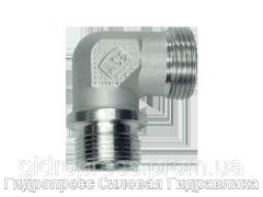 Угловое трубное соединение резьба цилиндрическая, без накидной гайки и врезного кольца, Нержавеющая сталь Rubrik 8.93