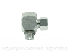 Угловые трубные соединение с кольцом уплотнения - цилиндрический, Нержавеющая сталь Rubrik 8.169