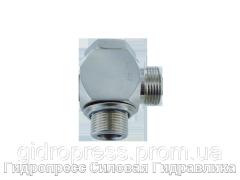 Угловые трубные соединение с кольцом уплотнения - OMD, Нержавеющая сталь Rubrik 8.168