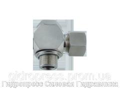 Угловые трубные соединение с кольцом уплотнения - Standard, Нержавеющая сталь Rubrik 8.166