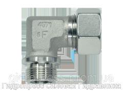 Угловое трубное соединение резьба цилиндрическая, Нержавеющая сталь Rubrik 8.91