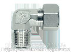 Угловое трубное соединение резьба конусная с накидной гайкой типа SC, Нержавеющая сталь Rubrik 8.86