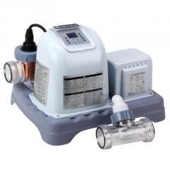 Система соленой воды / хлоргенератор Intex 28664 хлорирует и ионизирует воду, сеть 220-240В, с автотаймером, выход хлора 12 грамм/час