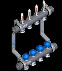 Коллектор отопления WATTS из нержавейки с расходомерами HKV2013AF-50-1