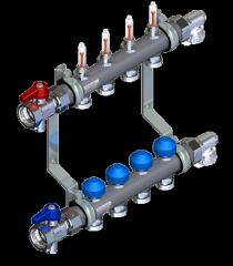 Коллектор отопления WATTS из нержавейки  HKV2013AF+-50-1