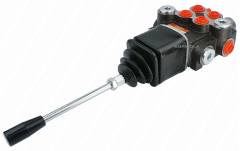 The hydraulic distributor 2 section with the