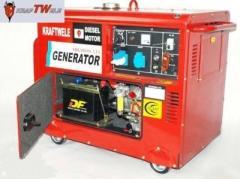 Генератор Kraftwele 9.8 кВт Germany, дизельный с АТС однофазный