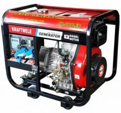 Генератор Kraftwele 7,8 кВт SDG 7800 1F однофазный дизельный