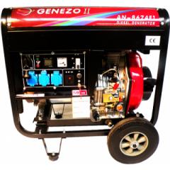 Генератор Genezo II AN8674E1 / 6 кВт, 1-фазный, пульт ДУ 60 м, дизельный
