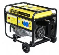 Генератор Powermat 7,8 ква, 230 В AVR, на колёсах