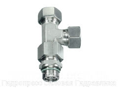 Резьбовые соединения тройниковые EL - метрическая резьба - стандартное исполнение, Нержавеющая сталь Rubrik 9.32