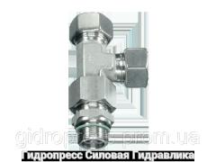 Резьбовые соединения тройниковые EL - метрическая резьба - с накидной гайкой типа SC, Нержавеющая сталь Rubrik 9.31