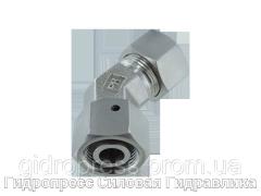 Регулируемое колено 45° со стяжной гайкой - Лёгкая и тяжелая серия- стандартовое, Нержавеющая сталь Rubrik 9.16