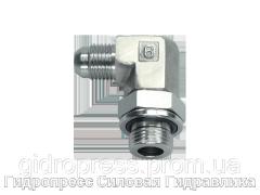 Резьбовые соединения EVW - 90°, с отбортовкой, Нержавеющая сталь Rubrik 6.32