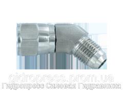 Угловое резьбовое соединение 45° адаптер, с отбортовкой, Нержавеющая сталь Rubrik 6.28