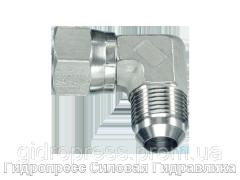 Угловое резьбовое соединение 90° адаптер, с отбортовкой, Нержавеющая сталь Rubrik 6.27