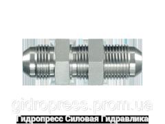 Прямые переборочные резьбовые соединения, с отбортовкой, Нержавеющая сталь Rubrik 6.22